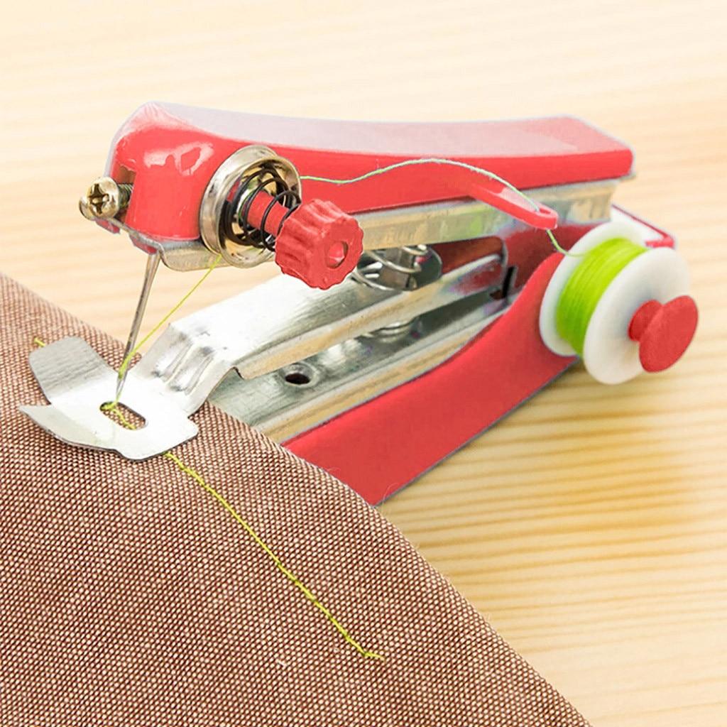 Opération manuelle Portable Mini Machine à coudre créatif Simple outils de couture maison voyage petite broderie # Y5