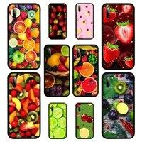 green fruit cherry lemon phone case for huawei p10 20 30 40 lit 2017 pro smart 2019 nax fundas cover