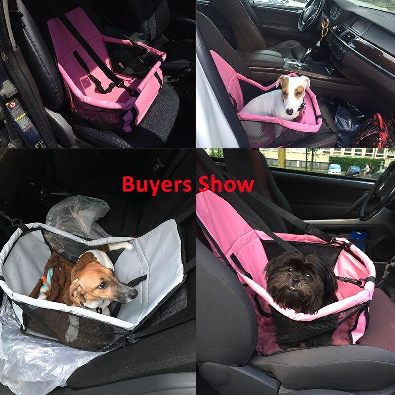 Asiento de coche para mascotas cochecito coche de paseo para perros mascota cubierta de asiento de coche seguro llevar perro almohadilla trasera bolsa de asiento de perro a prueba de agua casa gato perro