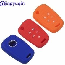 jingyuqin Remote 5 Buttons Silicone Key Fob Case Cover Protected For Chevrolet Equinox Camaro Aveo Impala Gmc Terrain