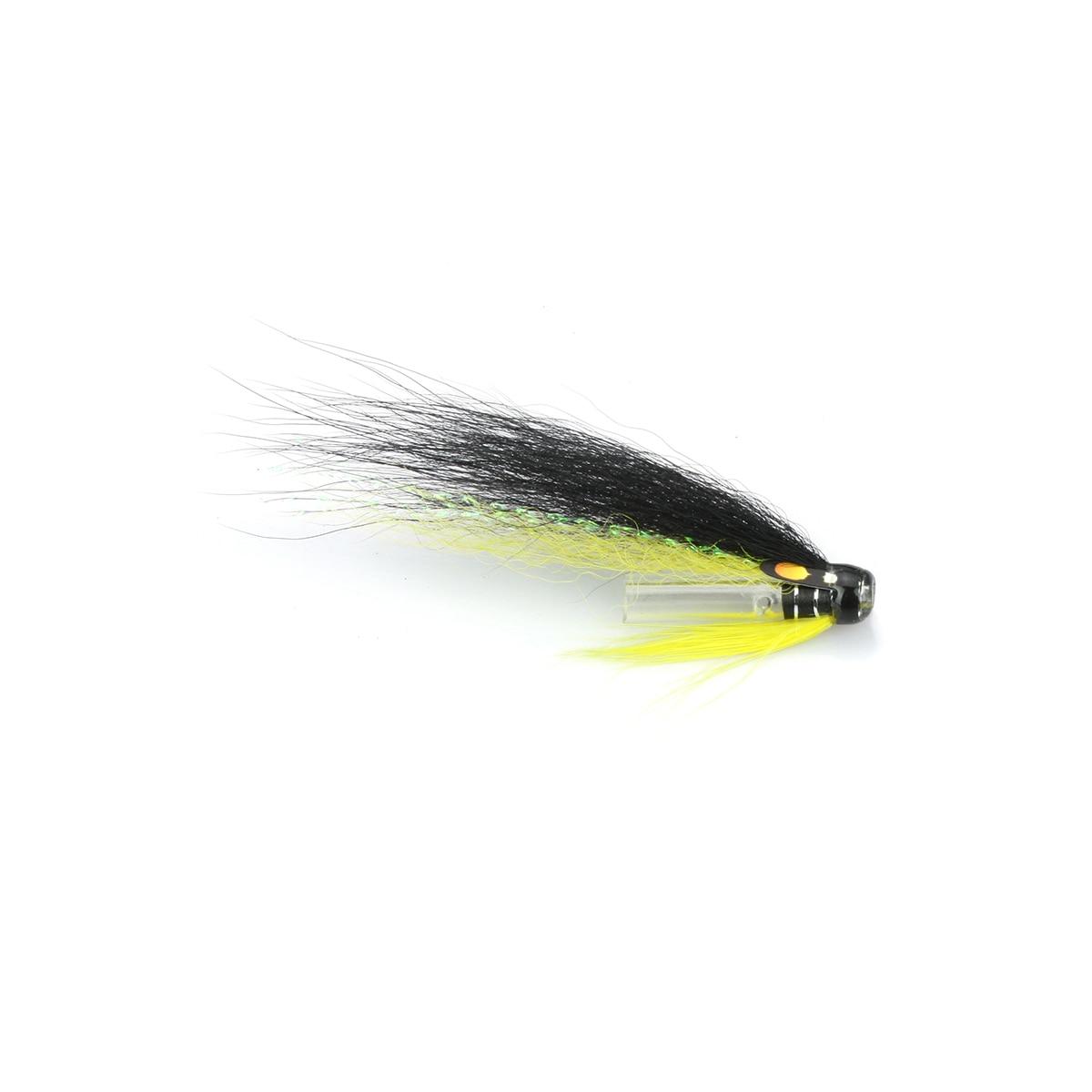 Riffle сцепка черный желтый трубка Летающий лосось морская форель мухи пластиковые трубки (8-pack)