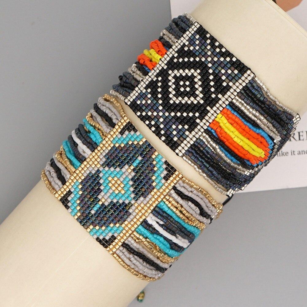 Go2boho-سوار عرقي بوهيمي للرجال ، مجوهرات مصنوعة يدويًا ، هدية شاطئ ، بالجملة ، 2020