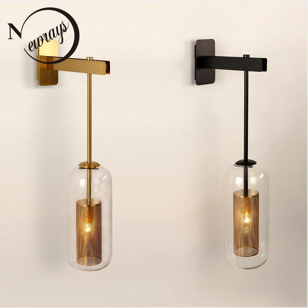Retro industrie E14 220V metall net schatten wand lampe für küche wohnzimmer schlafzimmer nacht restaurant aisle korridor wand licht