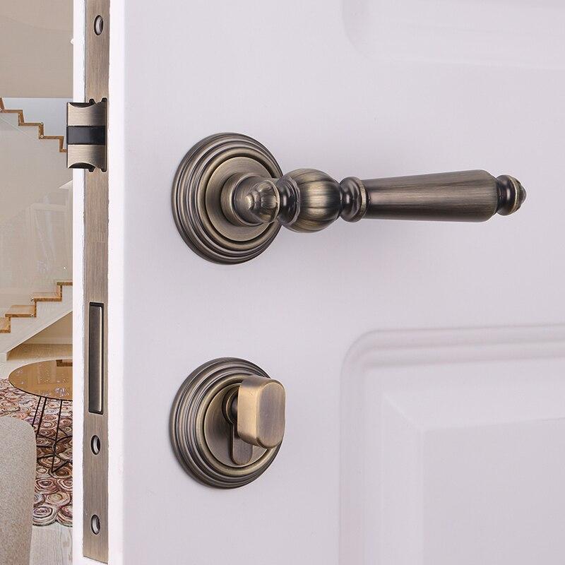 المنزل الأوروبي مقبض الباب قفل الداخلية الصامت قفل أمان للأبواب غرفة نوم سبائك الزنك كتم Lockset لوازم الأجهزة والأثاث