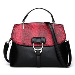 New PU Leather Top Handle Tote Bag Women Handbag Metal Hasp Female Shoulder Bag Ladies Messenger Bag