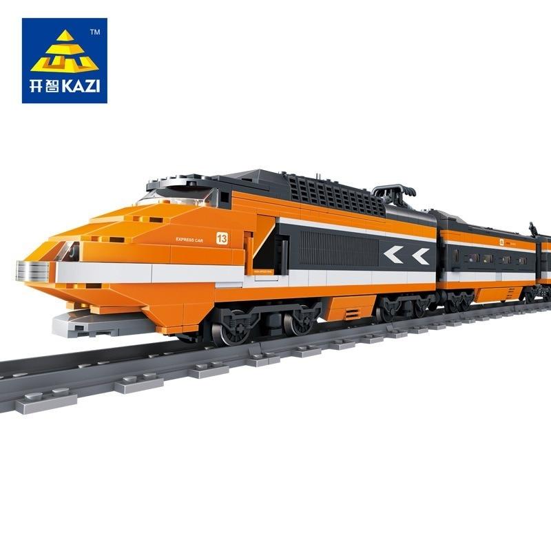 1351 pièces ville série Horizon Express ciel électrique Train à grande vitesse modèle bloc de construction briques enfants jouet cadeau de noël 98201