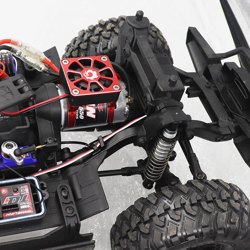 RC model accessories electric car brushless carbon brush motor radiator cover+cooling fan for TRX-4 SCX10 TRX-6 RC car 540 550 enlarge