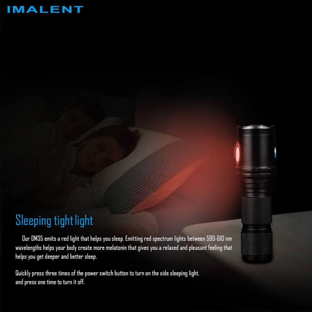 Imalent DM35 CREE XHP35 HI LED max 2000 lumens torso beam 450 meters torch with Micro-USB 5000mAh battery recharge flashlight enlarge