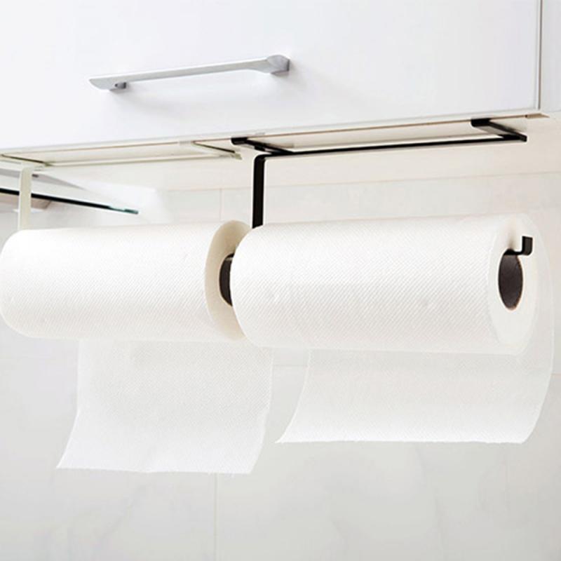 Держатель для кухонных рулонов, бумажная полка для туалетных полотенец, полка для хранения, дырокол, бесплатные стеллажи, кухонные бумажные держатели, подставка для железных рулонов