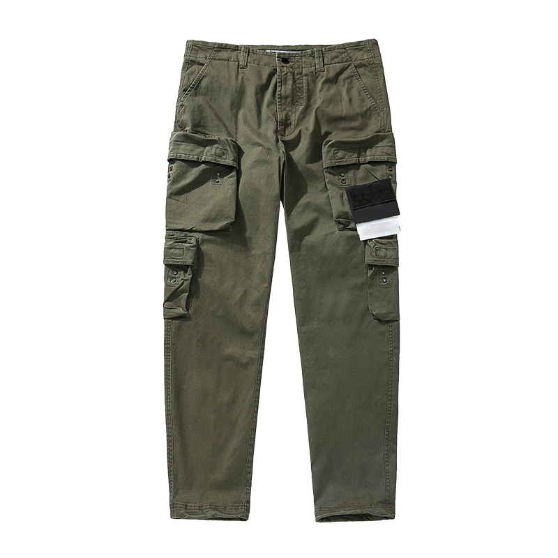 Men's spring and autumn Multi Pocket overalls, European and American leisure trend pants, new loose straight pants 2021
