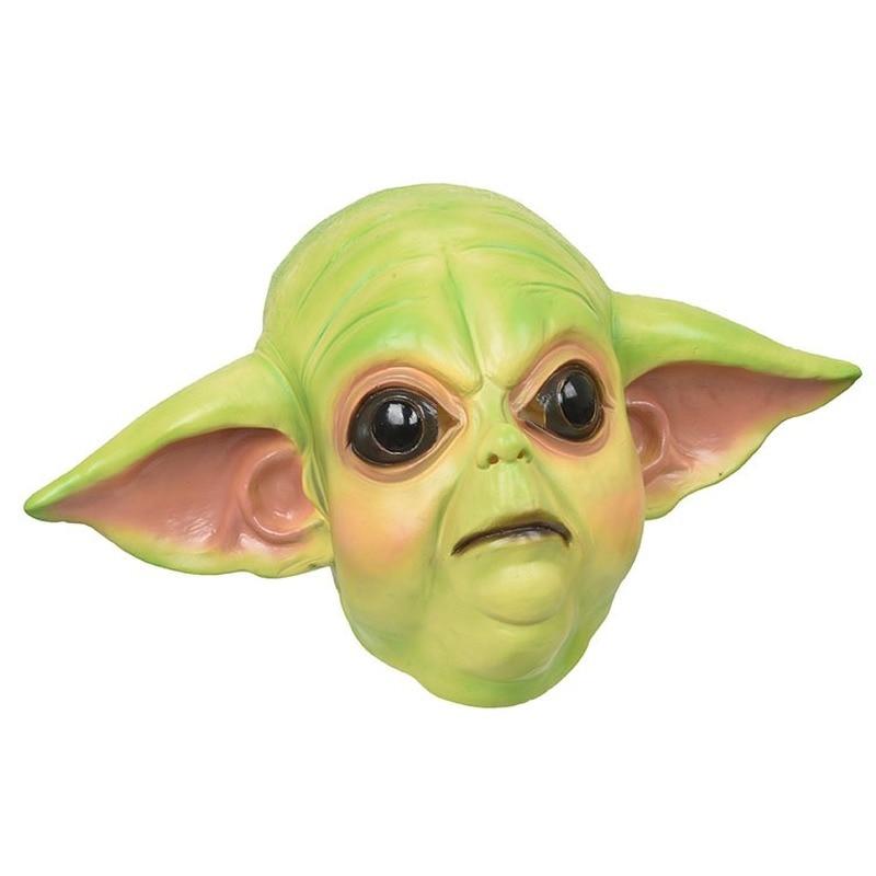 Nuevas máscaras de Cosplay Mandalorian Baby Yoda, máscaras de casco de látex Master Yoda, accesorios de Carnaval para fiestas de Halloween