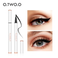 O.TWO.O Liquid Eyeliner Waterproof Black Color Long Lasting Smooth Fast Dry Easy to Control Cat Eye Liner Makeup