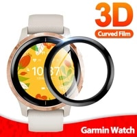 3d soft fibre glass protective film cover for garmin venu venu 2 2s full screen protector case for vivoactive 3 smart watch