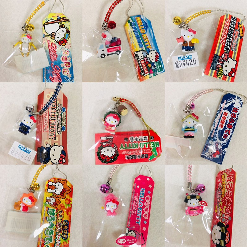 Anime japonés Hello Kitty Ski Kimono Limited colgante teléfono móvil encanto muñeca