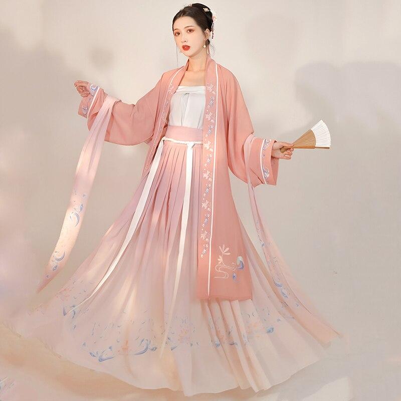 زي الأميرة الجنية الشرقي للسيدات ، تأثيري Hanfu الصيني القديم ، بدلة سلالة تانغ التقليدية ، زي مسرحي نسائي DN5986