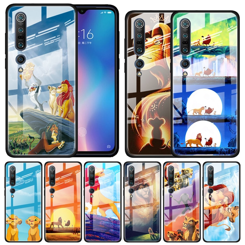Hakuna Matata the Lion King Tempered Glass Case for Xiaomi Mi Note 10 Pro CC9 CC9E A3 9T 8 Lite 10 Lite 5G Poco X2 Cover Coque