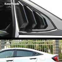car rear panel side vent window louver backside blinds sticker carbon fiber trim frame for honda civic 10th 2019 accessrioes