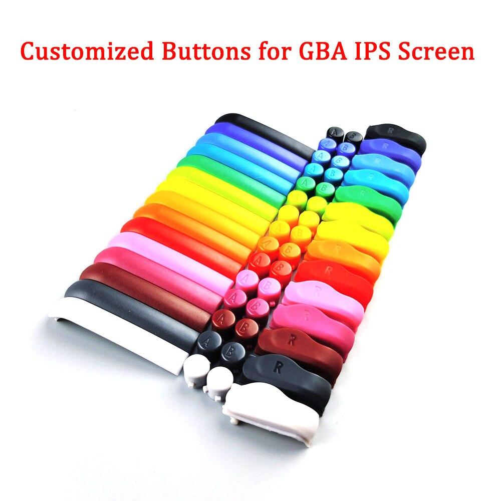 Original personnalisé A B L R boutons pour GBA boutons colorés pour GBA IPS LCD coque de boîtier décran pour Gameboy Advance