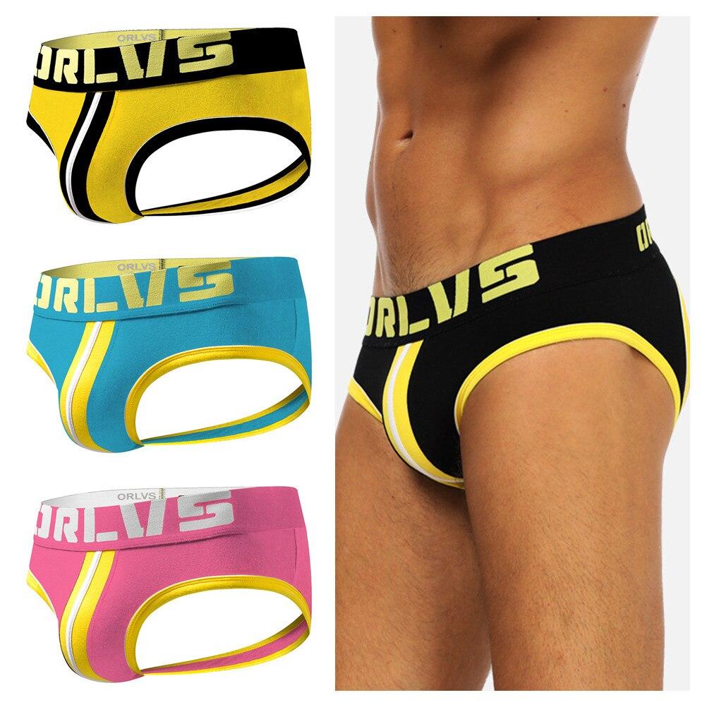 1 шт. мужские трусы Мужские jockstrap String Homme стринги Нижнее белье для геев открытая