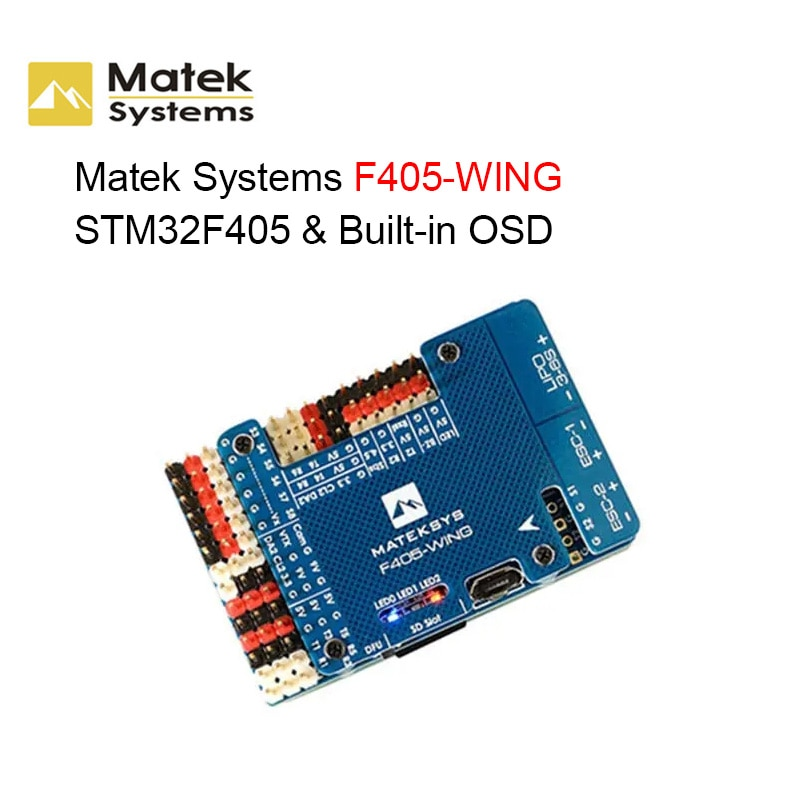 Matek Systems F405-WING TM32F405 Built-in OSD Flight Controller for RC FPV Racer Drone RC Quadcopter