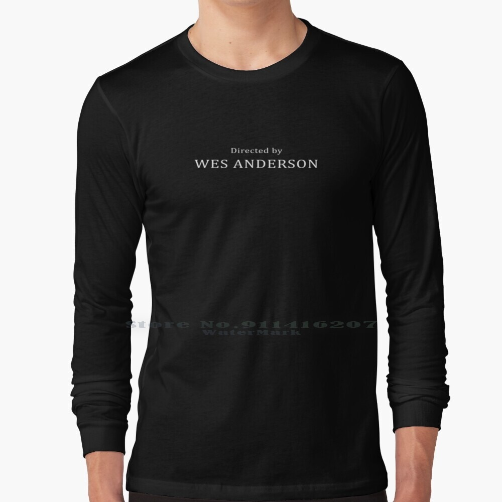Directed By Wes Anderson T Shirt 100% Pure Cotton Grand Budapest Hotel Wes Anderson Royal Richie Hipster Quirky Isle Of Dogs