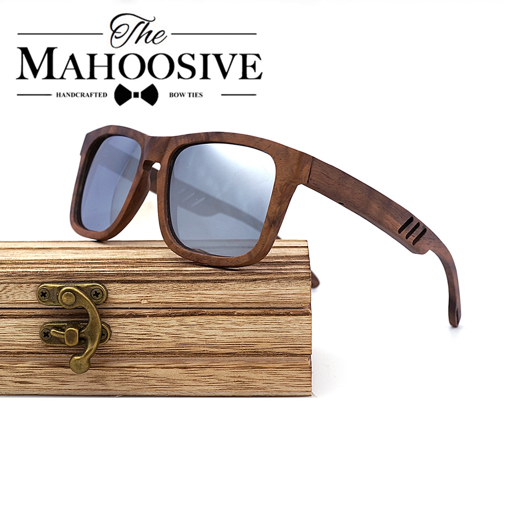 Natural Wooden Sunglasses Men Polarized Fashion Sun Glasses Original Wood Oculos de sol masculino Wa