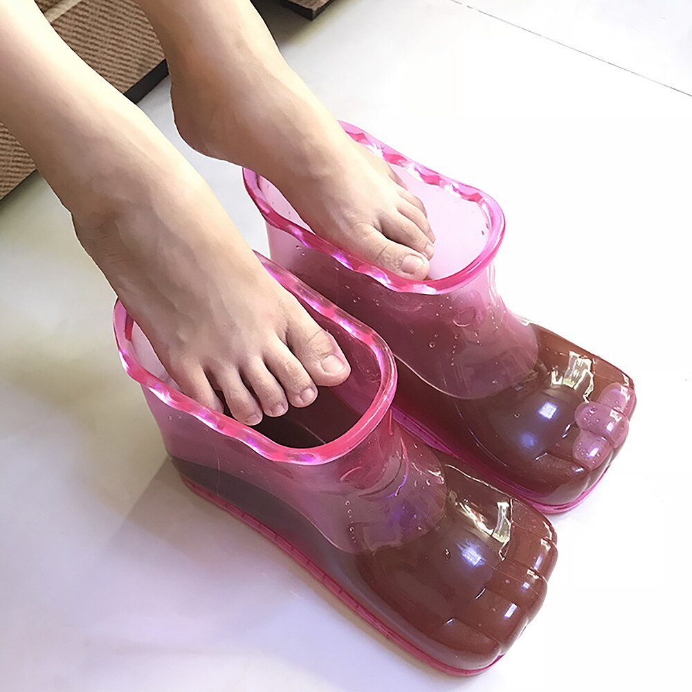 Foot Soak Bath Therapy Massage Shoes Relaxation Ankle Boots Acupoint Sole Portable Home Feet Care Hot Water Massager