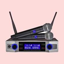 Finlemho Microphone karaoké sans fil dynamique VHF enregistrement Studio à domicile pour ordinateur Audio professionnel DJ haut-parleur conférence