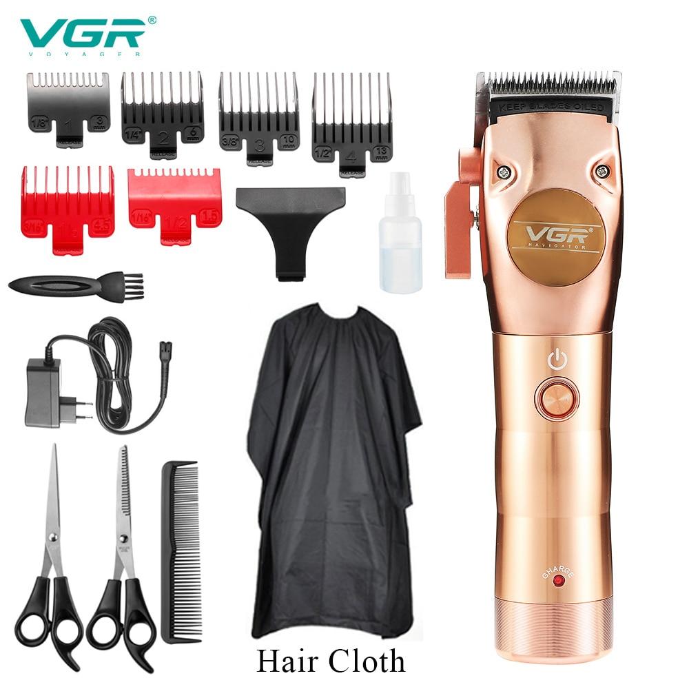 VGR الكهربائية كليبرز كامل المعادن مقص الشعر قابلة للشحن الشعر Cutte الحلاق النفط رئيس دفع الكهربائية الشعر المتقلب عدة آلة