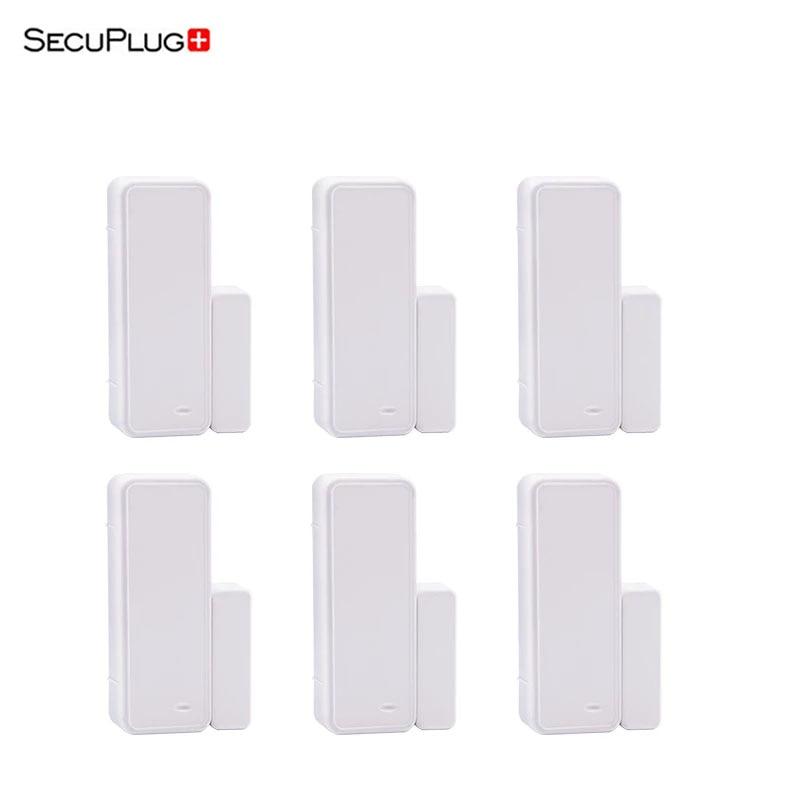 SecuPlug + 6 uds 8 Uds 433MHz dos Sensor magnético de La...