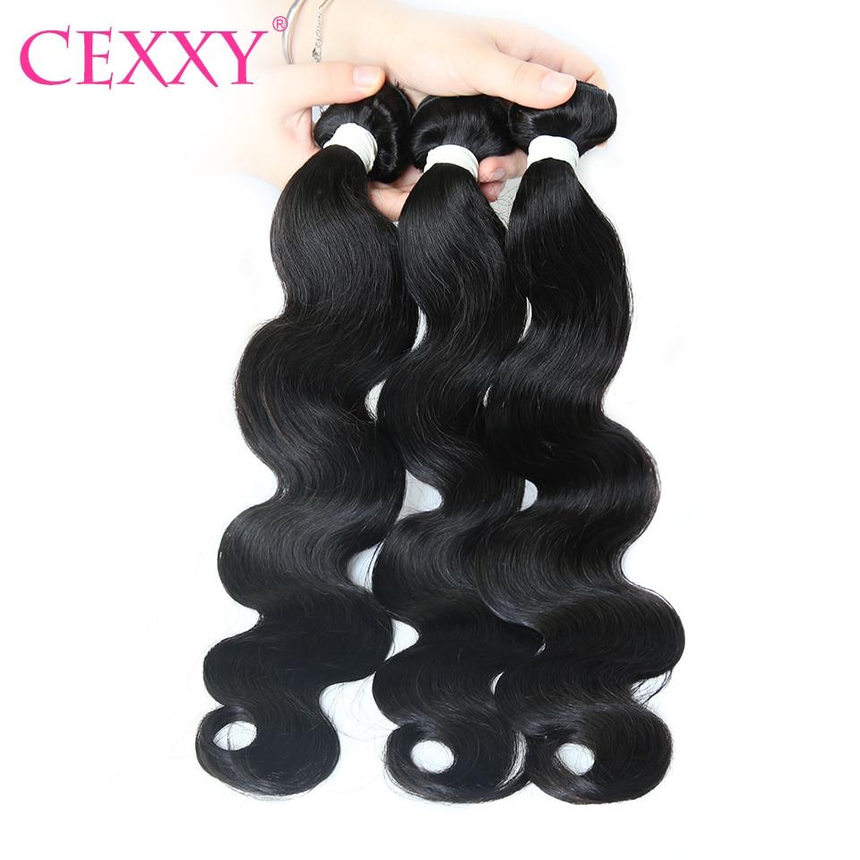 CEXXY extensiones de cabello humano ondulado brasileño extensiones de pelo ondulado Remy 1 3 4 extensión mechones de cabello 30 pulgadas 40 pulgadas paquetes