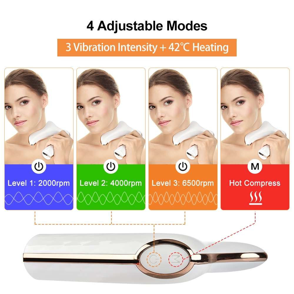 Vibration Heating Massager Full Body Muscle Facial Massager Hot Compress Physiotherapy Massager Galvanic Facial Machine Gua Sha