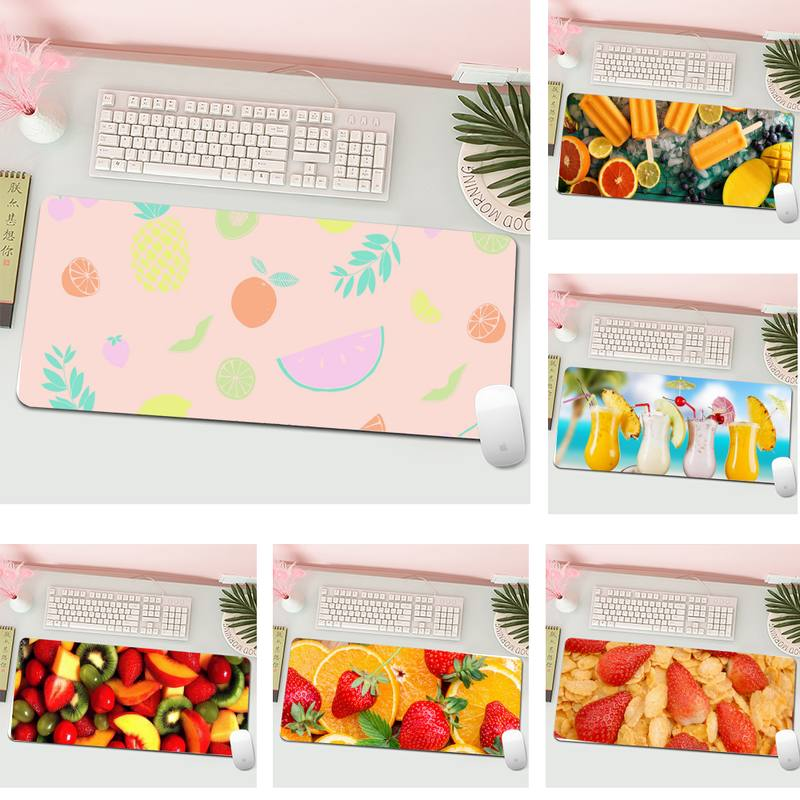 Удобный коврик для мыши с изображением фруктов, игровой коврик для мыши, большой игровой коврик XL для клавиатуры, ПК, настольного компьютера...
