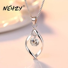 NEHZY dell'argento sterlina 925 delle donne di modo nuovi monili di alta qualità di cristallo di zircon retro semplice pendente della collana a lunga 45 CENTIMETRI