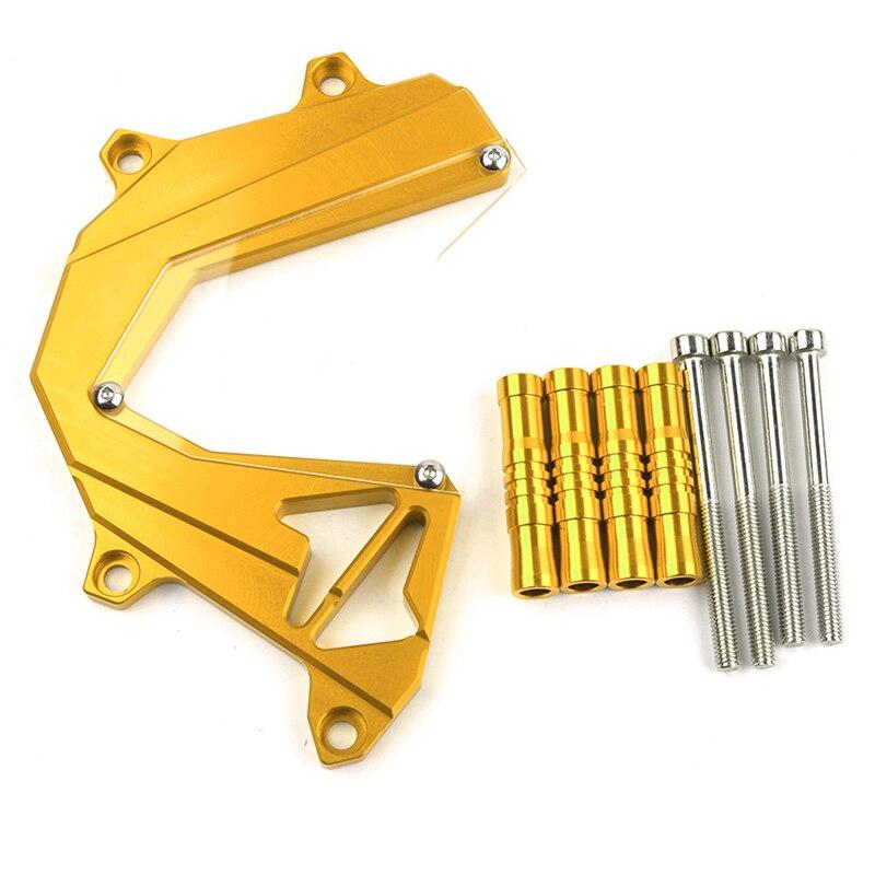 Cubierta de protección de cadena de protección de motor de piñón delantero de aleación de aluminio CNC de motocicleta para Kawasaki Z800 Z800 2013-2016 Accesorios