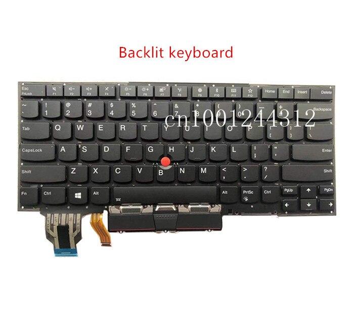 لوحة مفاتيح الكمبيوتر المحمول Lenovo Thinkpad X1 Carbon 7th 2019 ، PK131A12B00
