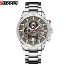 CURREN Top Brand Mens Watches Fashion Analog Military Sports Full Steel Waterproof Wrist Watch Male