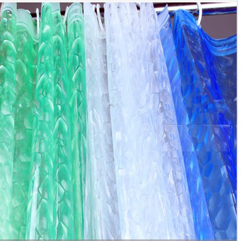 ثلاثية الأبعاد ستارة مضادة للماء شرفة تول بريق شير الستائر للحمام/في الهواء الطلق/غرفة المعيشة Mpev أشكال عرض النوافذ العفن