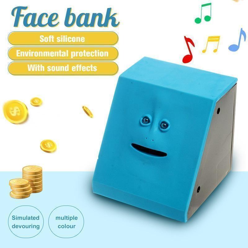 Face Money Pot Money Eating Coin Bank Monkey Saving Box Automatic Coin Eating Savings Facebank Piggy Bank Novelty Gift For Kids