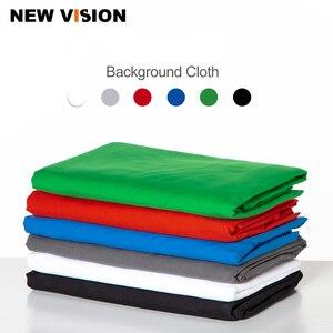 Image 1 - Черный, белый цвет зеленый синий и красный цвета Цвет хлопковый текстиль муслин фото фоны фотостудия Экран фон хромакей ткань