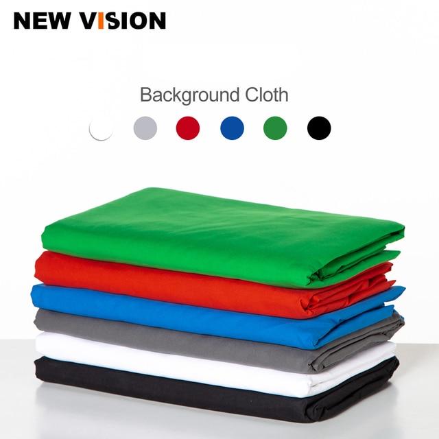 Черный, белый цвет зеленый синий и красный цвета Цвет хлопковый текстиль муслин фото фоны фотостудия Экран фон хромакей ткань