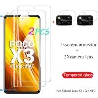 tempered glass for xiaomi little x3 poco x3 nfc screen protector on xaomi little pock poco x3 camera protective glass x3nfc film