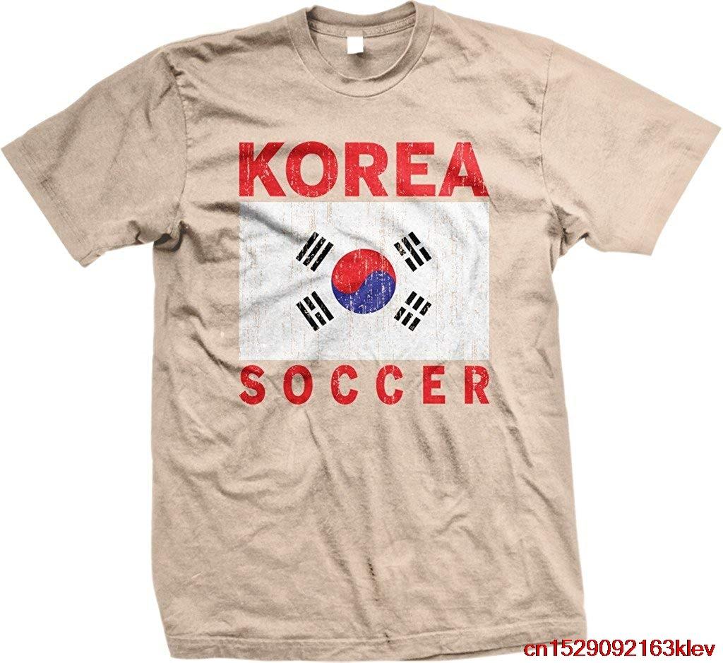 FGHFG Corea fútbol, bandera coreana, Corea fútbol camiseta para hombre Unisex, hombres mujeres camiseta