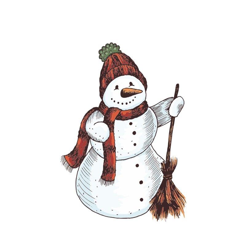 Милый снеговик, мультфильм, искусственная кожа, шлем, украшение для ноутбука, высокое качество, водонепроницаемая автомобильная наклейка