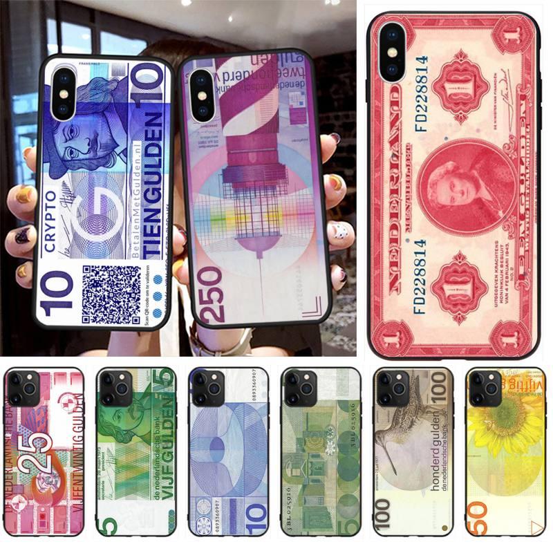 Funda de teléfono de cáscara suave negra de Holanda, funda para iPhone 11 pro XS MAX 8 7 6 6S Plus X 5S SE 2020 XR