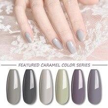 Vernis à ongles UV MIZHSE vernis à ongles vernis à ongles UV vernis à ongles Semi Permanent Led vernis à ongles série de couleurs kaki