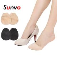 sunvo fabric forefoot insert pads for women sandels high heels anti slip shoes insoles forefoot toe socks half yard cushion pad