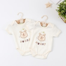 Baby Clothes Newborn Onesies Cotton Triangle Romper Short Sleeve Cartoon Pullover O-Neck Romper 0-12