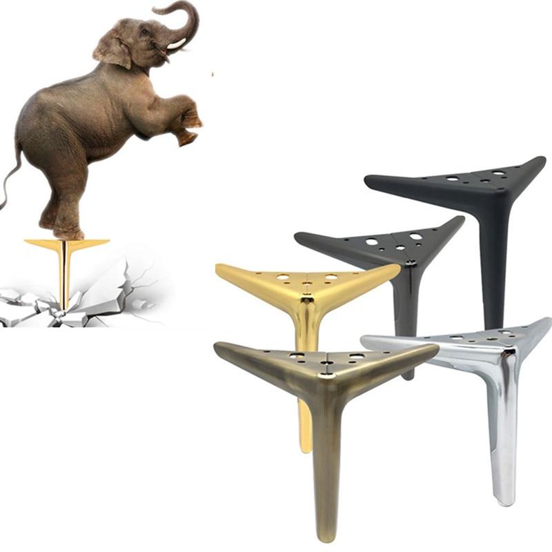 Металлические ножки для дивана 4 шт., современный треугольный металлический буфет высотой 12/15/19 см, ножки для кресла, стола, кровати с винтами...