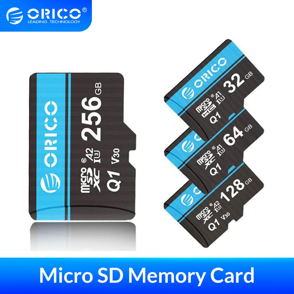 ORICO Mini Micro SD Card Memory Card  32GB 64GB 128GB 256GB MicroSD Max 80M/s SD/TF Flash Card cartao de memoria